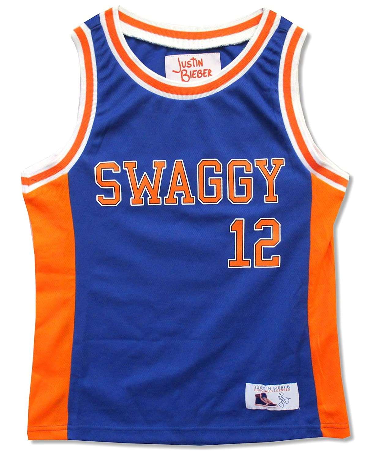 outlet store 7dbba d5a51 Amazon.com: Justin Bieber Youth Swaggy Blue & Orange ...