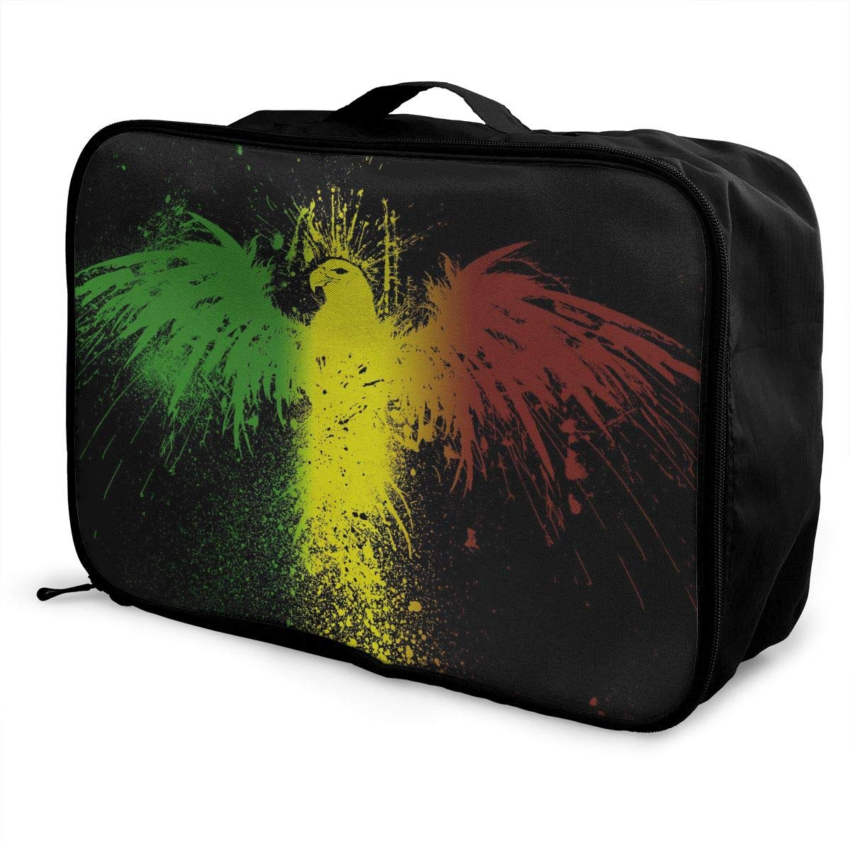 STWINW Lion Flag Travel Fashion Lightweight Large Capacity Portable Waterproof Foldable Storage Carry Luggage Bag Luggage Duffle Tote Bag Hanging Travel Toiletry Bag Travel Makeup Bag