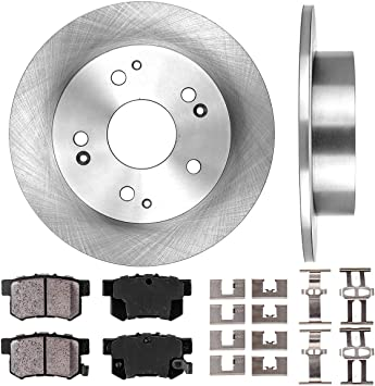 Front Brake Calipers Rotors Ceramic Pads For ACURA RSX HONDA CIVIC HATCHBACK