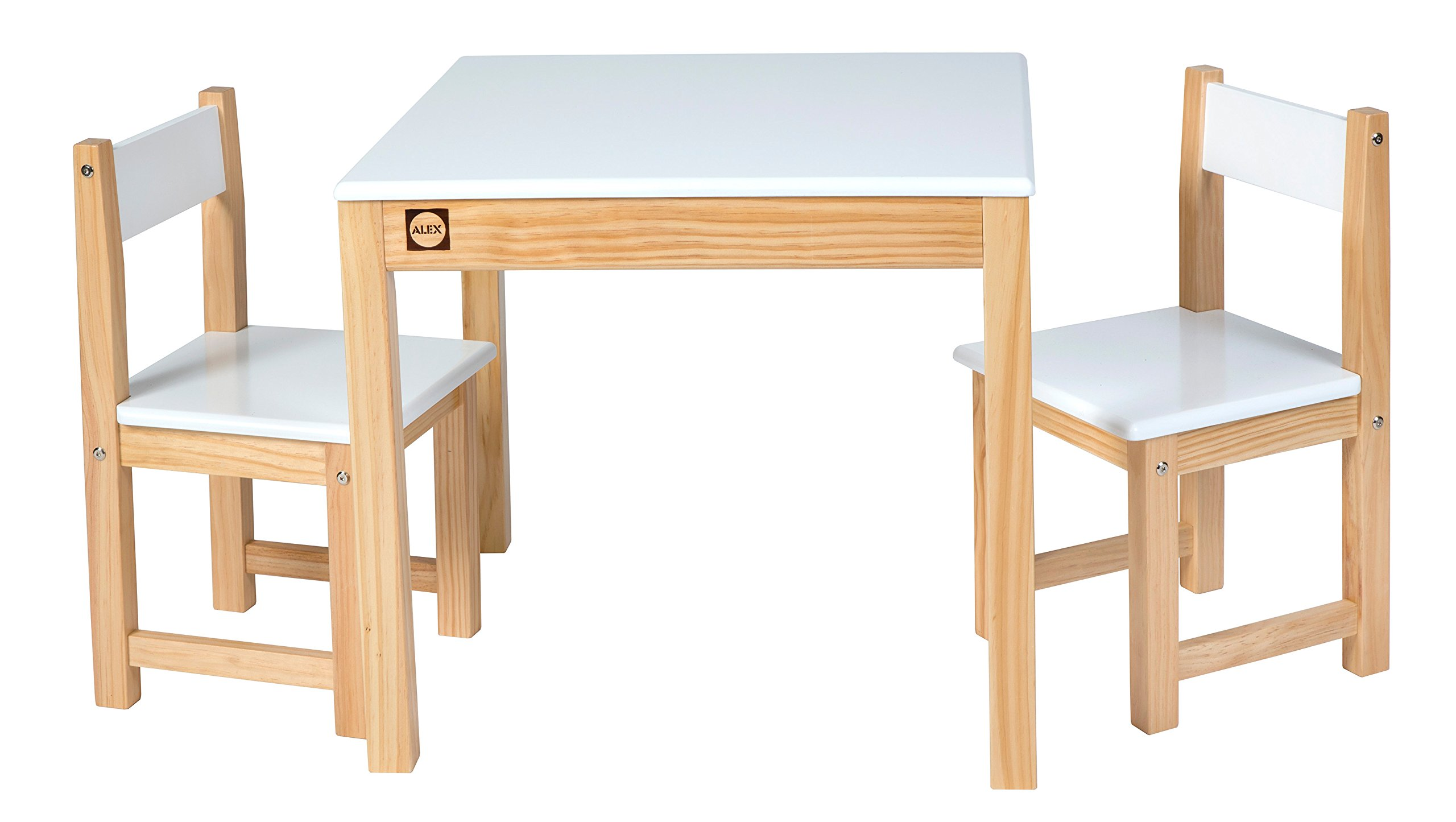 ALEX Toys Artist Studio Wooden Table and Chair Set White