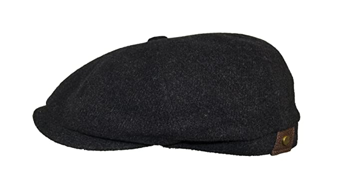4cecf3ba2f0 Stetson Men s Wool Blend Hatteras Cap Charcoal  Amazon.co.uk  Clothing