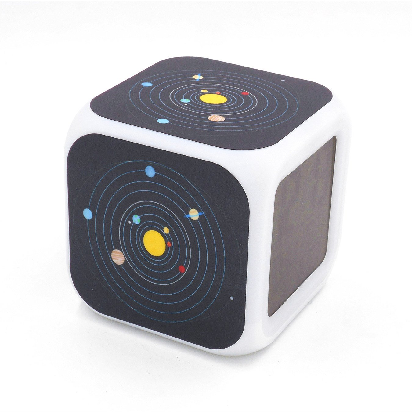 EGS New Sun Solar System Nine Planets Digital Alarm Clock Desk Table Led Alarm Clock Creative Personalized Multifunctional Battery Alarm Clock Special Toy Gift for Unisex Kids Adults