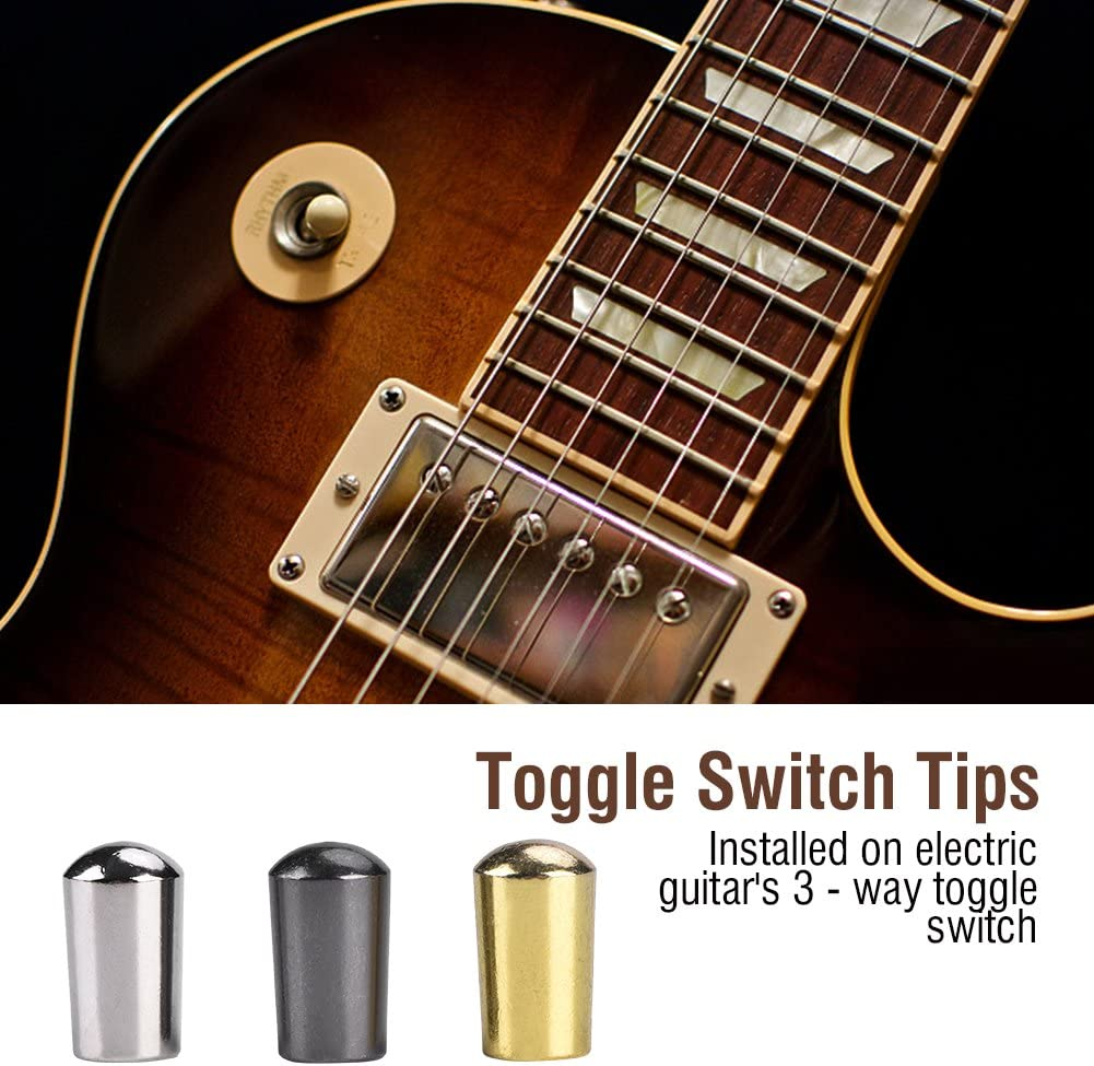 Guitar pickup switch tip in gold push fit