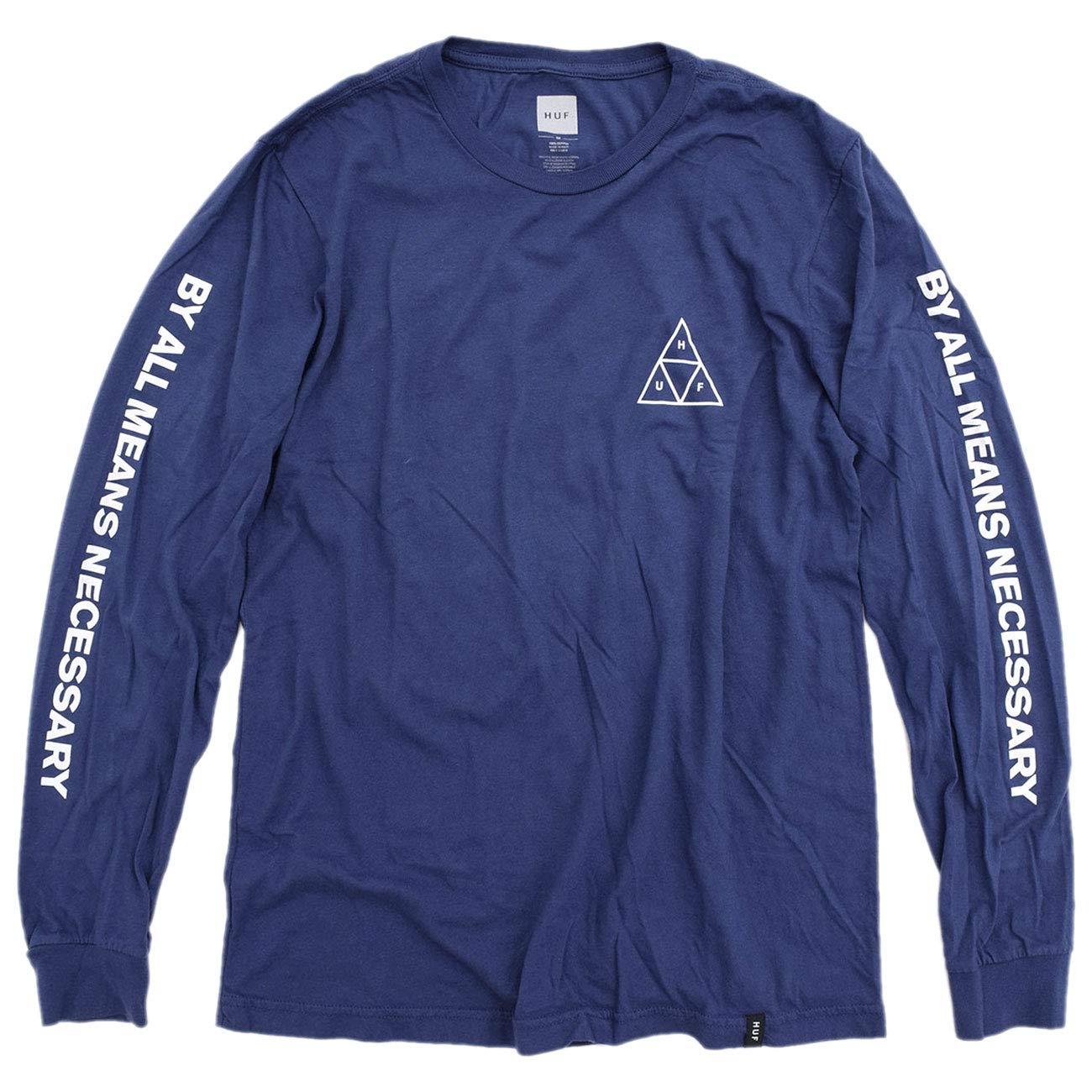 Black All Sizes Huf Essentials Triple Triangle Mens T-shirt