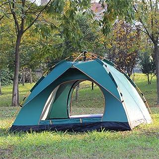 KCJMM Tente de Plage Tente de Printemps Portable, Protection UV et Anti-Pluie, adapté pour Le Camping de Sports de Plein air et la Plage de randonnée 3-4 Personnes