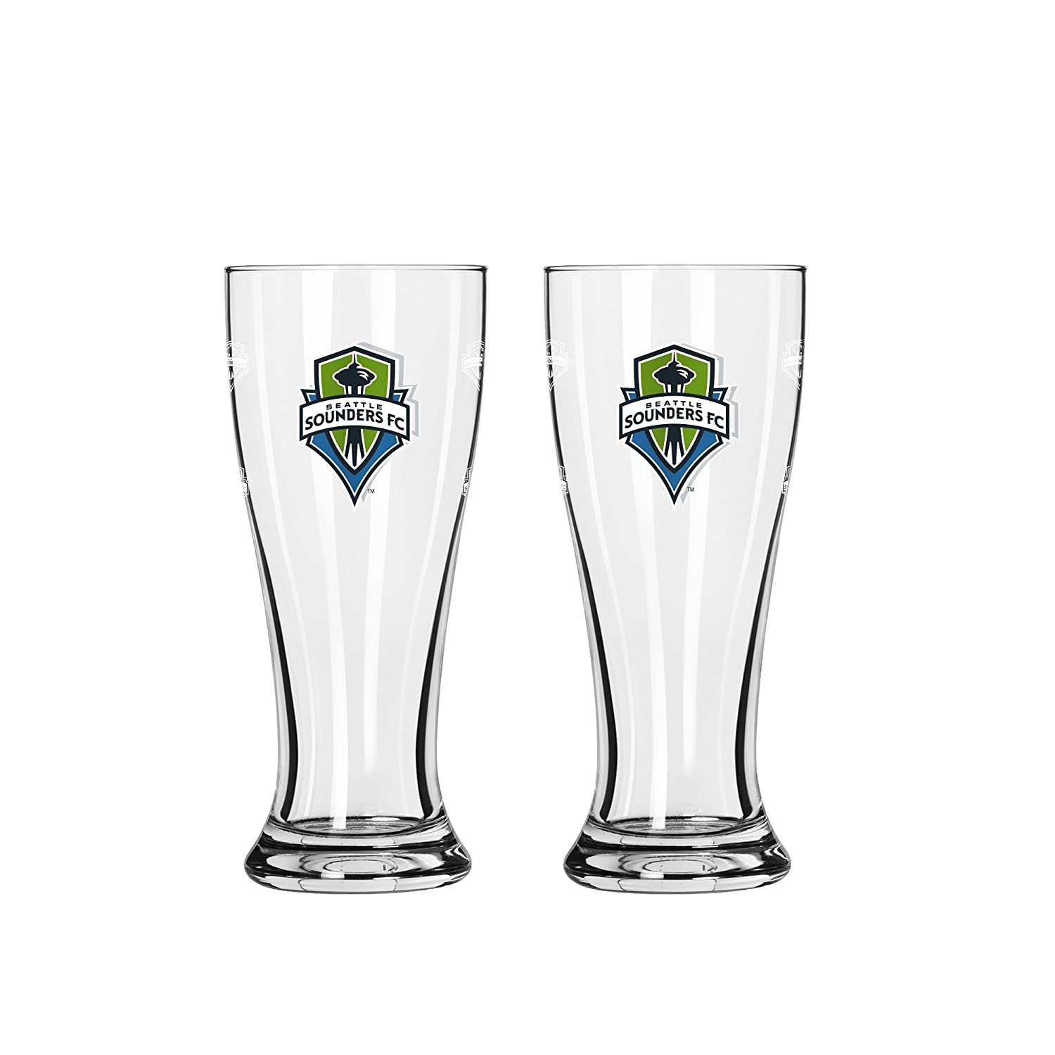 MLS Seattle Sounders FC Mini Pilsner, 2.5-ounce, 2-Pack