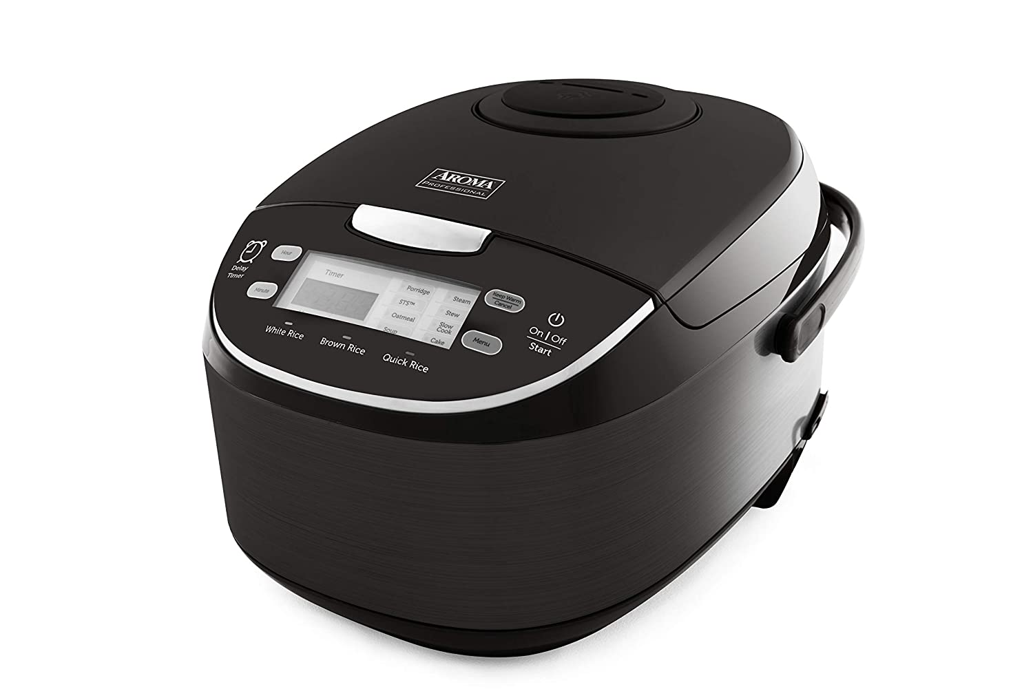 Aroma Housewares ARC-6106AB Japanese Style, Multi, Rice Warmer, Steamer, Saute-Then-Simmer, Cake Maker, Slow Cooker, 3Qt /12 cup cooked, Black