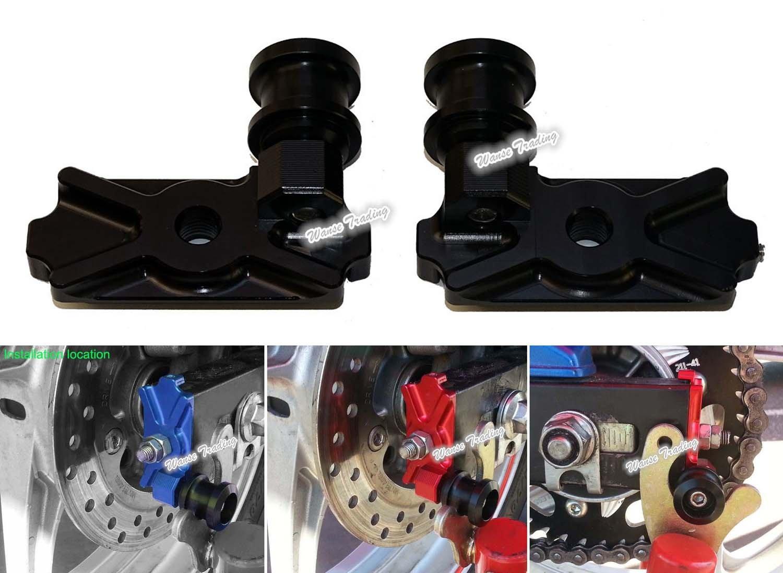 waase Motorcycle CNC Aluminium Swingarm Swing Arm Spool Slider Adapters / Mounts For Honda CBR250R 2011 2012 2013 / CB300F CBR300R 2014 2015 2016 (Black)