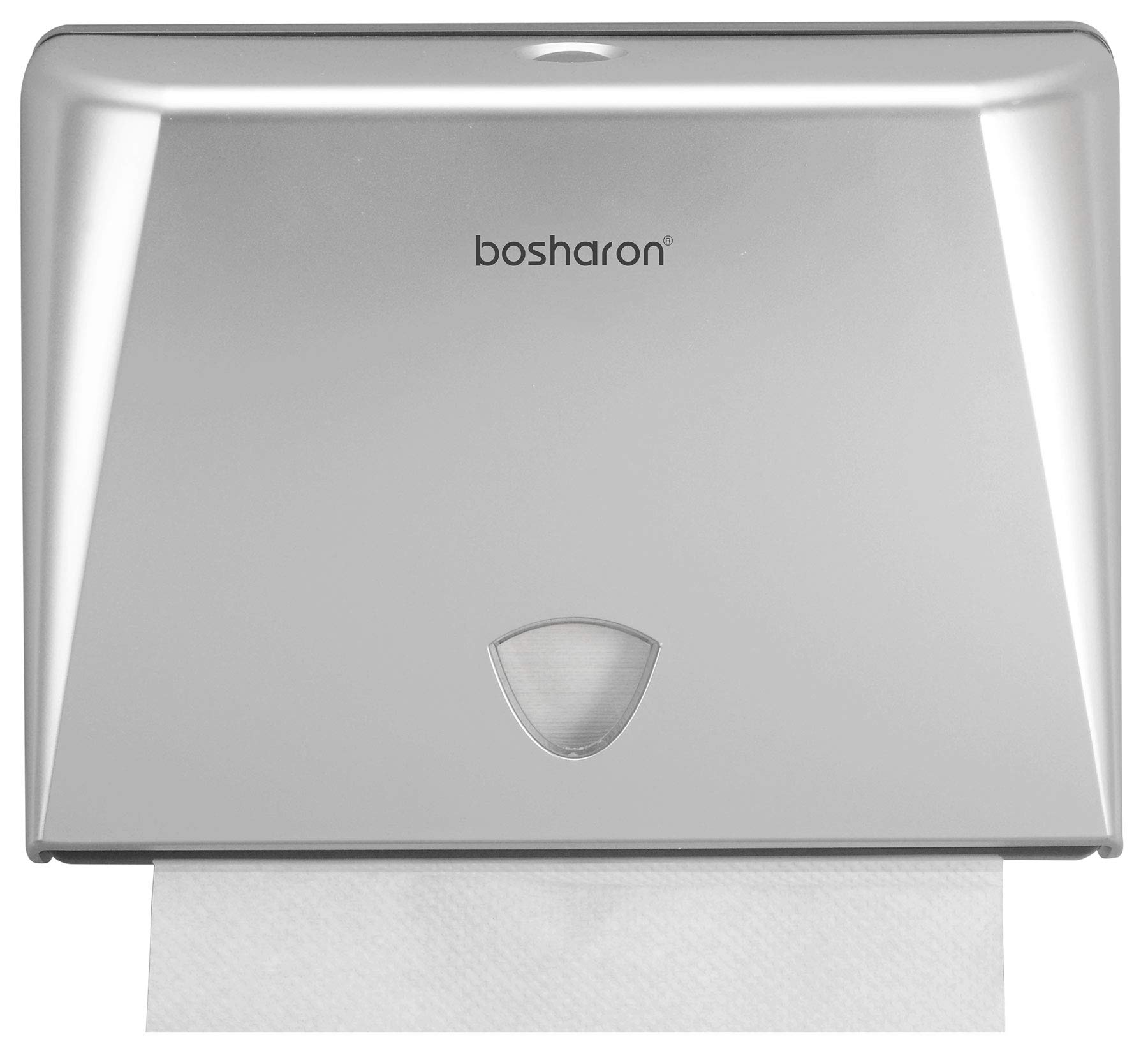 Bosharon Wall-Mounted Paper Towel Dispenser for Home and Commercial Use. Multifold Paper Towel and Tissue Holder for Bath, Kitchen, Office, Business (Silver) by Bosharon