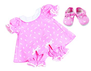 85a476900f2c FRILLY LILY PINK BUNNY DRESS BLOOMERS AND SHOES SET FOR LUVABELLA DOLL FROM  [DOLL NOT
