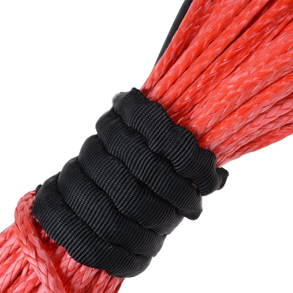 Astra Depot 1//4 x 50 RED Synthetic Winch Rope Cable 6400LBs Compatible for ATV UTV KFI Recovery SUV Truck Vehicle