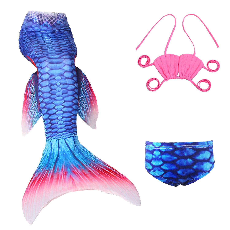 loenzo otiz Girl's New Mermaid swimsuit 4pc