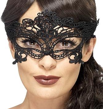 Pizzo Nero Veneziana Maschera MetalloMasquerade Maschera Trasparente Diamante Ballo Costume