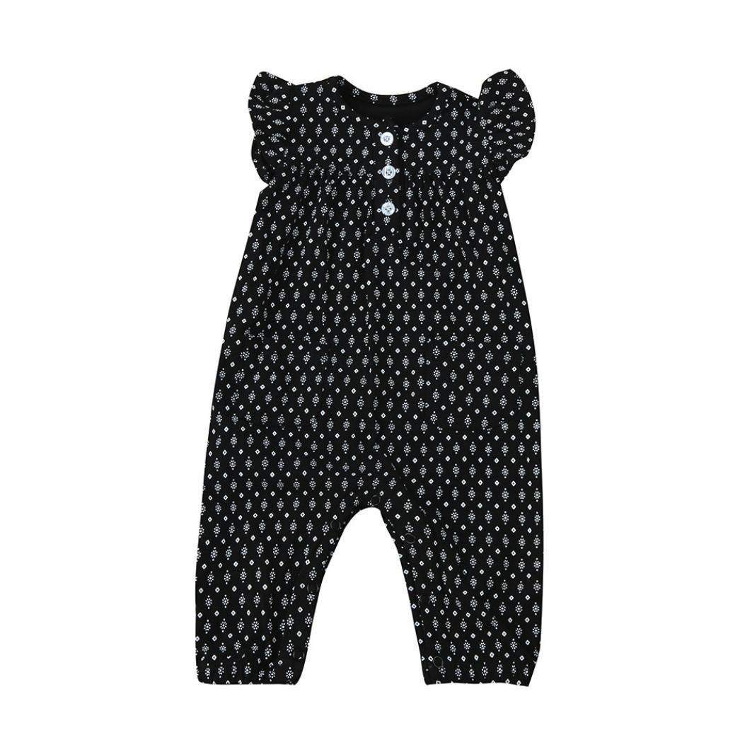 361d58594 SHOBDW Girls Rompers, Toddler Infant Baby Girls Print Sleeveless Clothes  Romper Jumpsuit Playsuit SHOBDW-88