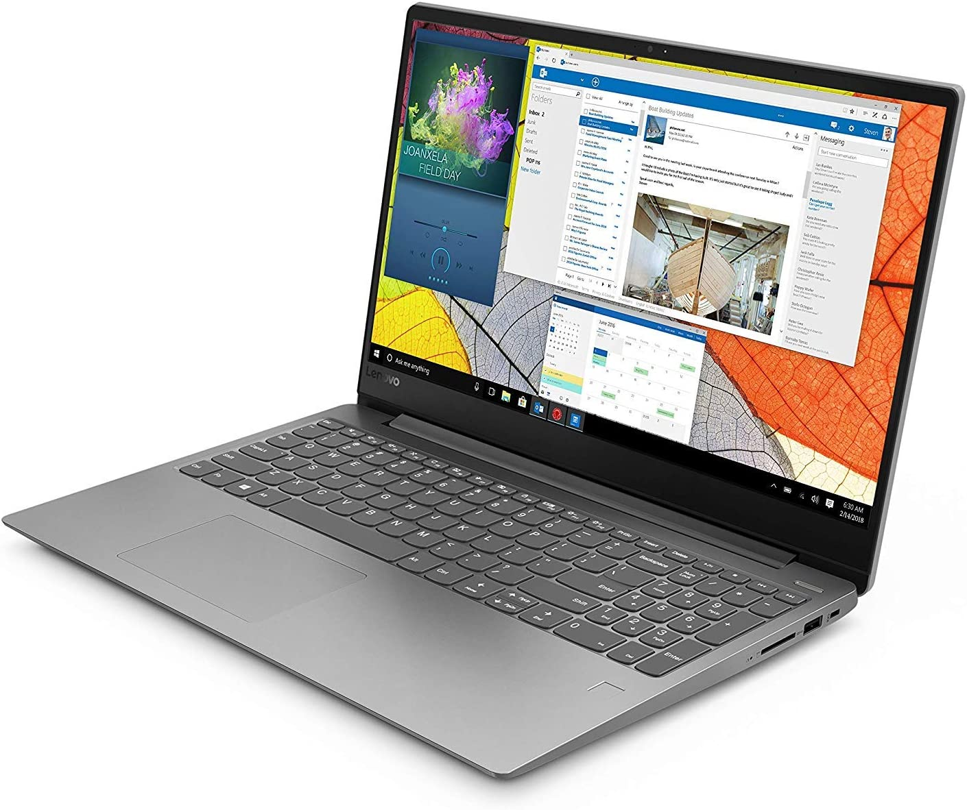 "Lenovo Ideapad 330s 15.6"" Laptop, AMD Ryzen 5 2500U Quad-Core Processor, 8GB Memory, 256GB Storage, Windows 10, Platinum Grey- 81FB00HKUS"