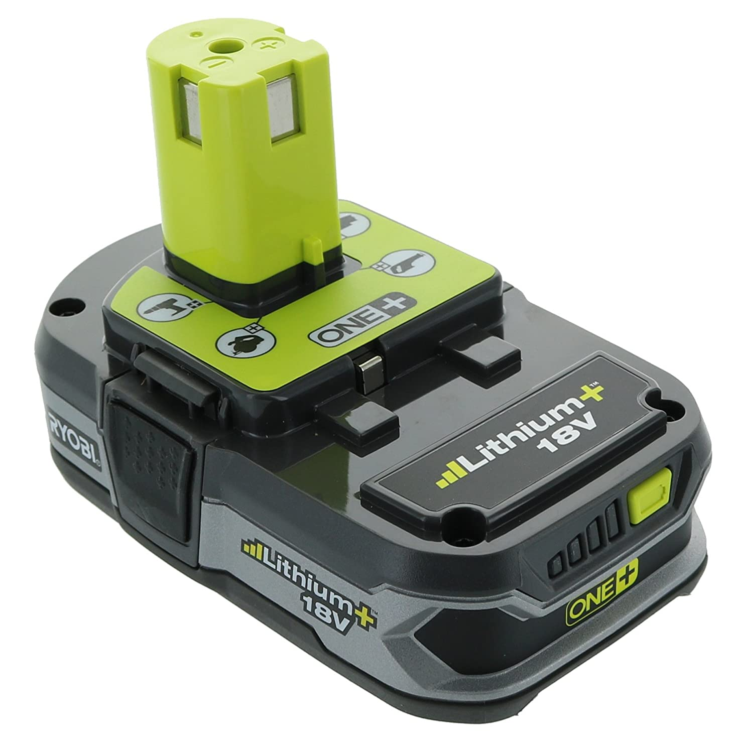 Ryobi P107 One+ 18 Volt Compact Lithium Ion 1.5 Ah Battery (Single Battery)