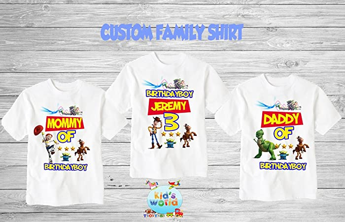 Amazon Toy Story Birthday Shirt Custom Personalized Family Shirts T For Girls And Boys