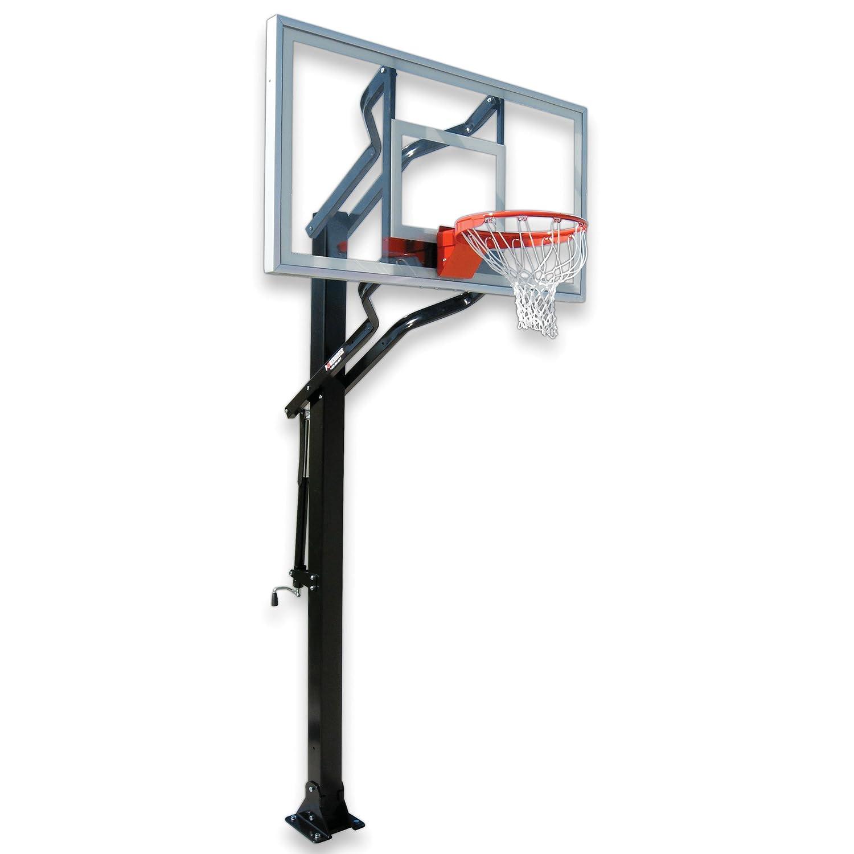 最初チームPowerhouseチャレンジャー調節可能なIngroundバスケットボールシステム B002HIZBAC