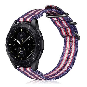 FINTIE Correa para Samsung Galaxy Watch Active/Galaxy Watch 42mm / Gear Sport/Gear S2 Classic/Huawei Watch 2-20mm Pulsera de Repuesto de Nylon con ...