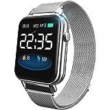 AMYSPORTS ios android スマートウォッチ 腕時計 心拍測定 血圧 防水 スマートブレスレット レディース メンズ カロリー 活動量計 スマート ウォッチ 日本語 2019最新