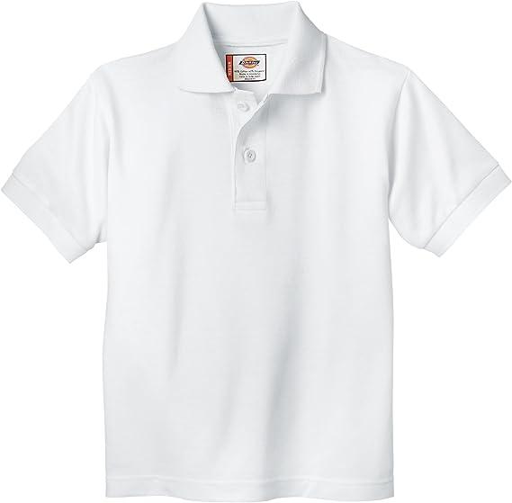 Dickies - Camisa KS234 Niño de manga corta Polo Piqué, 4TD, White ...