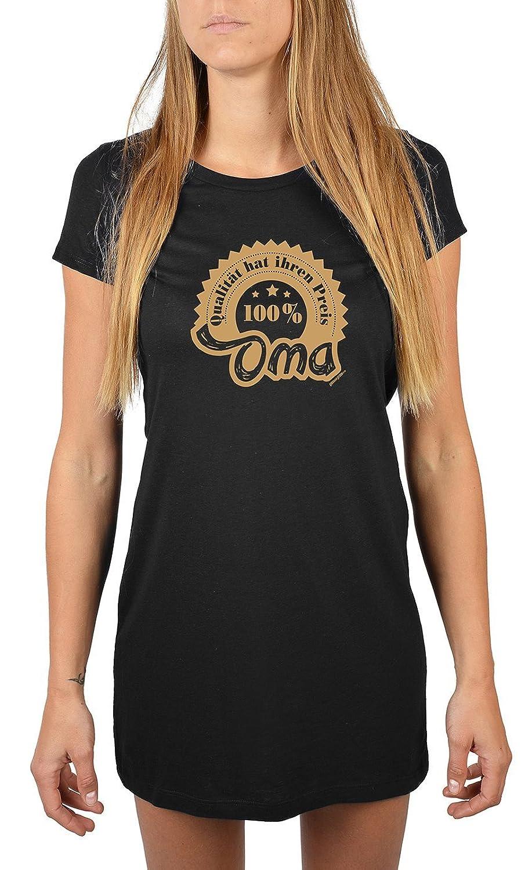 Nachthemd Damen 100% Oma - Qualität hat ihren Preis für Oma Sommerkleid Nachtkleid Geschenk für Oma