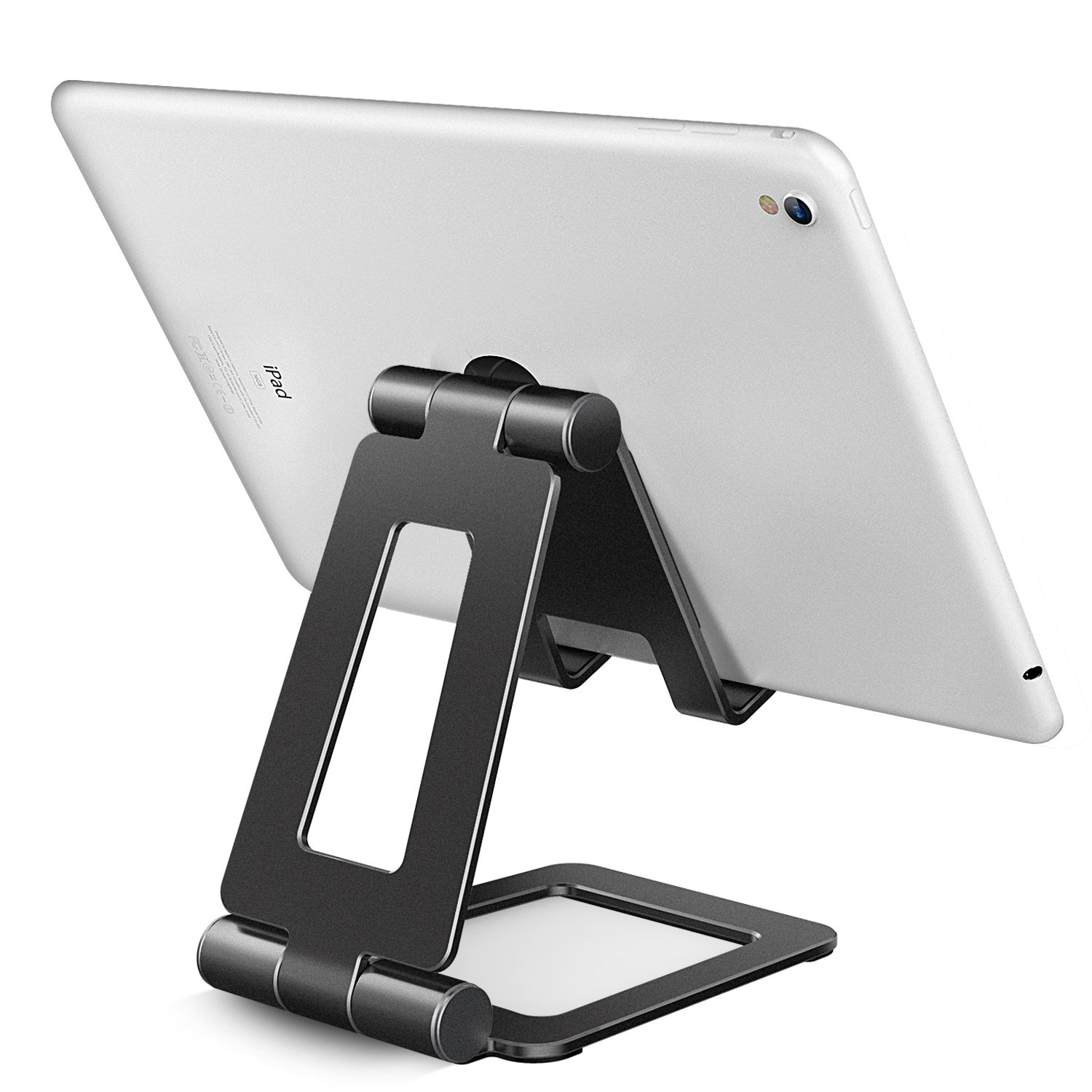 Adjustable iPad Stand, Tablet Stand Holders, Cell Phone Stands, iPhone Stand, Nintendo Switch Stand, iPad Pro Stand, iPad Mini Stands and Holders for Desk (4-10 inch) by Hi-Tech Wireless