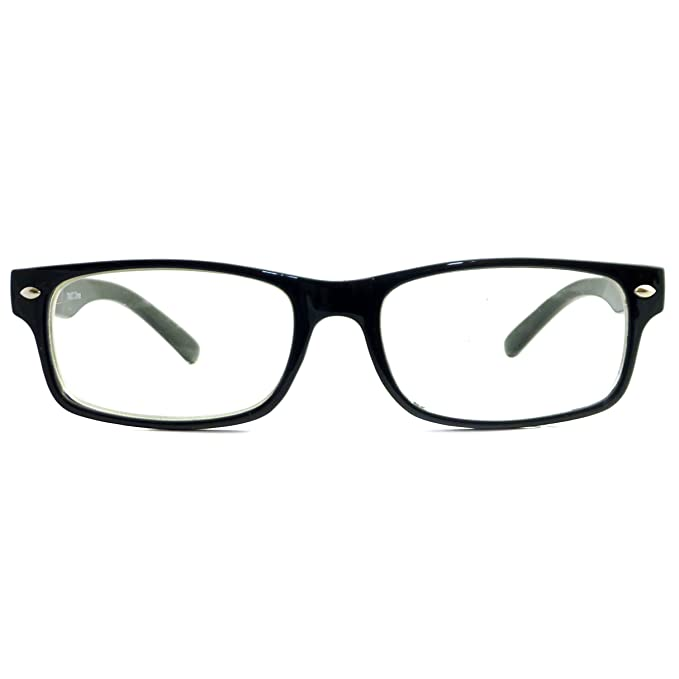 03b0916ce9e Image Unavailable. Image not available for. Color  RETRO Nerd Thin Men  Women Rectangular Frame Clear Lens Eye Glasses BLACK