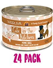 Weruva Cats in the Kitchen Fowl Ball Pet Food (24 Pack), 3.2 oz