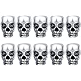 Gusnilo 10pcs Approx Tibet Silver Skull Spacer Beads---Great DIY Accessories for Necklace, Bracelets and Earrings Making