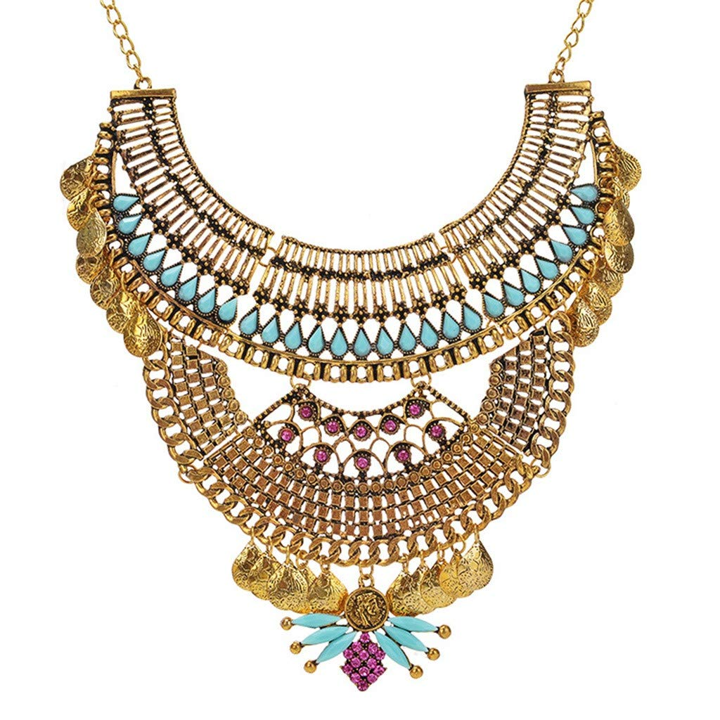 ChenGG Clearance!European and American Retro Necklace New Fashion Female Clavicle Chain Jewelry Under 5 Dollars