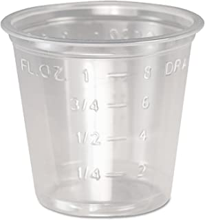 """product image for SOLO Cup Company Plastic Medical & Dental Cups, Clear, Graduated, 19.8"""" L, 5000/Carton"""