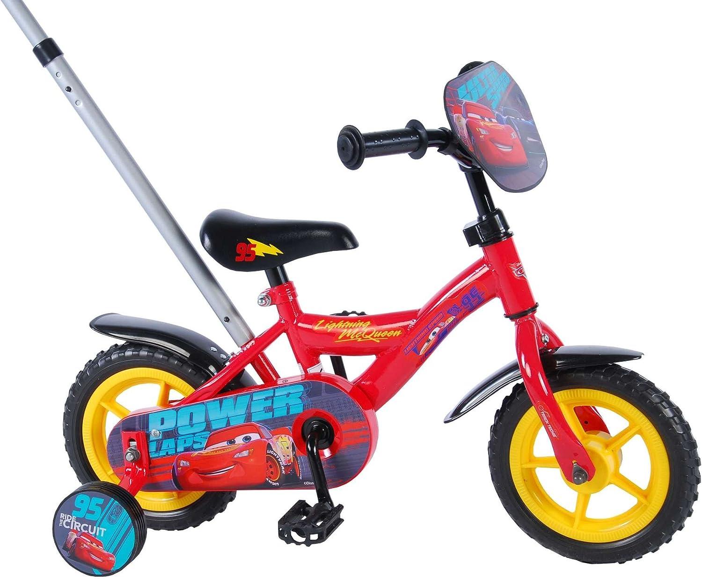 E&L Cycles Disney Cars 3 – 10 pulgadas – Bicicleta infantil con cajones Barra: Amazon.es: Deportes y aire libre