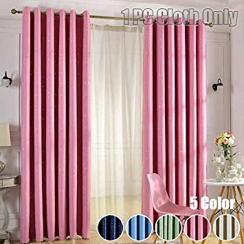 Amazon.com: WINYY Star Printed Modern Simplicity Blackout Curtains ...