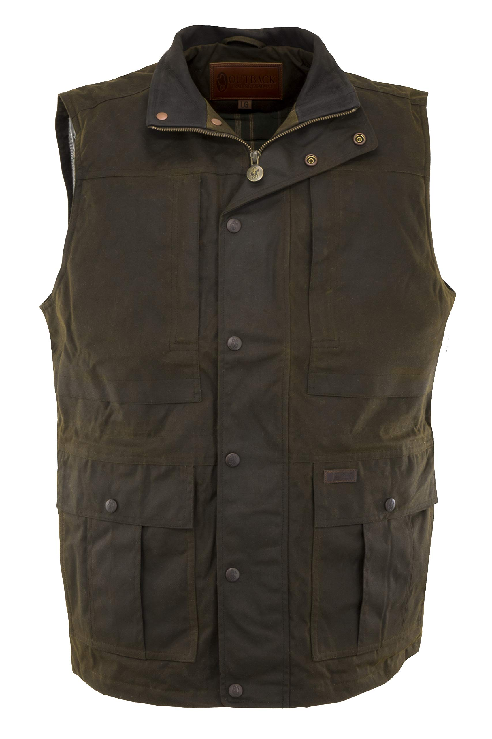 Outback Trading Company Deer Hunter Oilskin Vest, Bronze, 2XL by Outback Trading