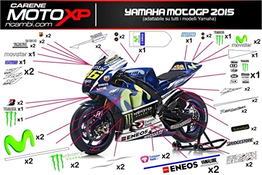 Decal Stickers Decals Graphics Yamaha R1 R6 Motogp 2015 Amazon Co