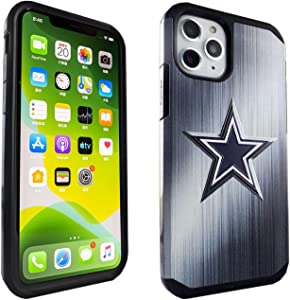 iPhone 11 Pro Case Blue Star, IMAGITOUCH 2-Piece Style Armor Case with Flexible Shock Absorption Case & Cowboys Design Cover Hybrid for iPhone 11 Pro (5.8 inch)