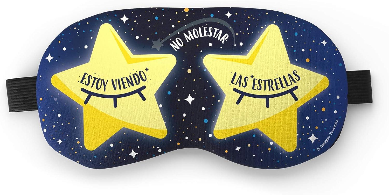 Designer Souvenirs - Antifaz Antiestrés Estoy Viendo las Estrellas con Bolsa de Gel   Relajación Inmediata   Efecto Frío y Beauty para Descongestionar ...