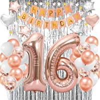 Sweet 16th Birthday Balloons Party Decorations Supplies For Girls