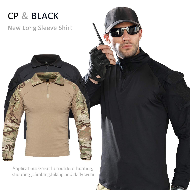 7VSTOHS Chemises à Manches Longues pour Hommes Sports de Plein air Chasse  Randonnée Shooting Shirts Chemises Slim Fit de Combat Militaire  Amazon.fr   Sports ... 5ab79b4f5e4