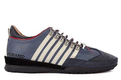 Scarpe Dsquared Uomo In Pelle BluAmazon Dsquared2 Sneakers Nuove 1TFJclK