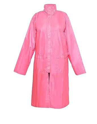 c417f408f Krystle Stylish Pink Girl s Raincoat with Hidden Collar Pocket for ...