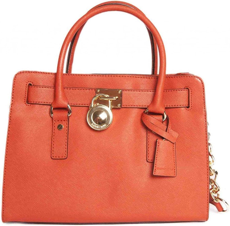 Michael Michael Kors Hamilton EW Satchel Femmes Orange: Amazon.fr ...