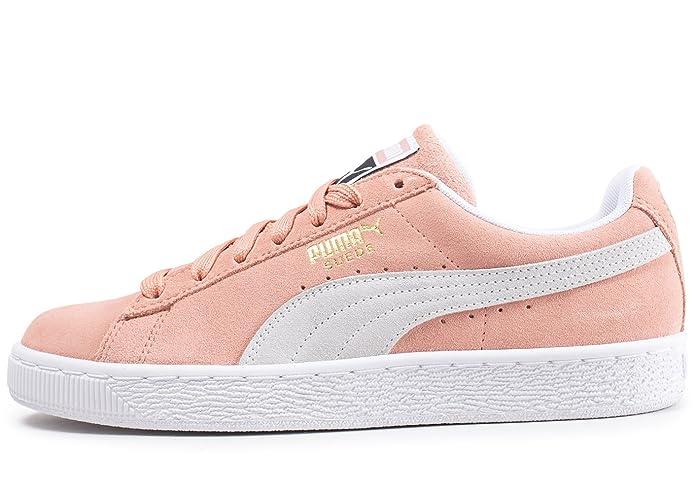 Puma Suede Classic Sneaker Damen Herren Unisex Wildleder Beige mit Weißem Streifen (Muted Clay)