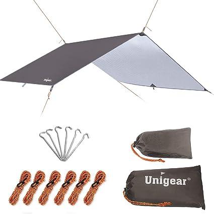 "Gold Armour Hammock Rain Fly Tent Tarp Waterproof Camping 185/"" Centerline 12' XL"
