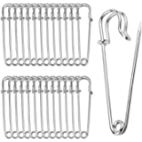nuosen 30 Pieces Safety Pins, 70mm Blanket Pins, Silver