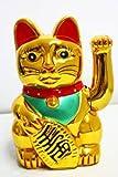 Haac - Muñeco de Zhaocai Mao o gato de la suerte (16 cm), color dorado