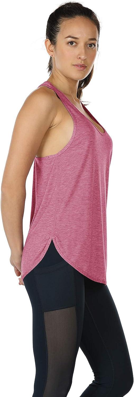 icyzone Yoga Sport Tank Top Damen Racerback Lauftop Fitness Running Shirt Oberteile