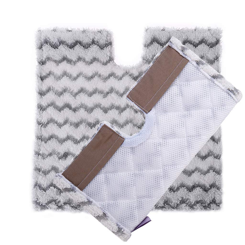 XindiHome Replacement Steam Mop Pads for Shark Lift-Away & Genius Steam Pocket Mop 3973 S3973D S5002 S5003 S6001 S6002 S6003 Part # XTP184 & P184WQ (2 Pack)