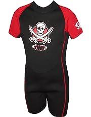TWF - Muta corta pirata per bambini - Rosso, 5-6 anni, K2